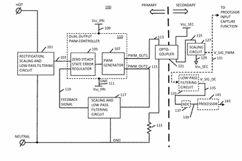 Apparatus and method for measuring primary voltage from the secondary side of an isolated power ...