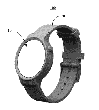 Wearable device, touchscreen thereof, touch operation method thereof, and graphical user interface thereof