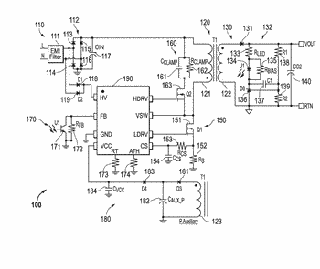 Switched mode power supply with dynamic frequency foldback