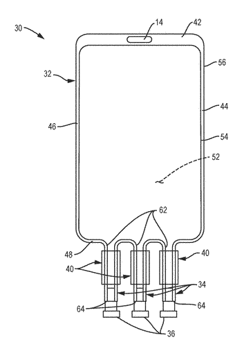 Dry sterilizable bag and clamp for storing liquid and frozen media and dispensing