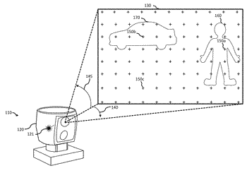 Laser range finder with an adaptive high-intensity zone