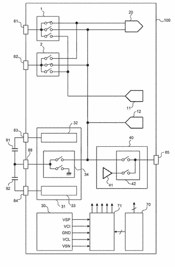 Display device configured to operate display drive and touch sensing in time sharing manner and ...