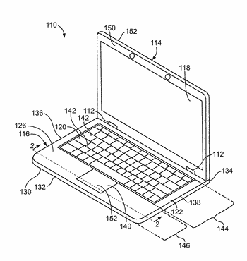 Electronic device with touchpad display