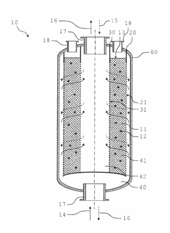 Process for producing an adsorption unit and adsorption unit