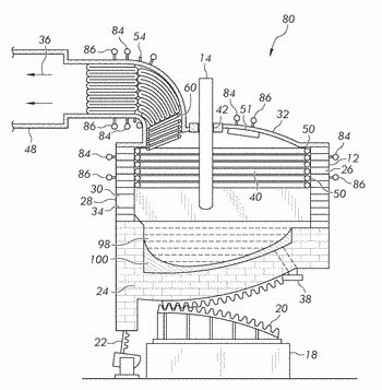 Extended leg return elbow for use with a steel making furnace and method thereof