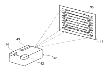 Method and device for projecting an image with improved safety