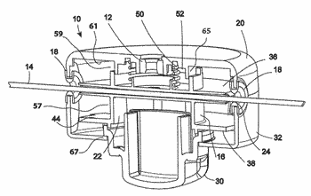 Module for feeding trimmer line through the spool of a vegetation trimmer apparatus