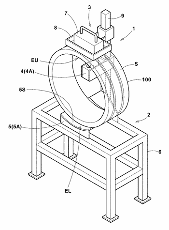 Apparatus and method for measuring diametrical stiffness of tread ring