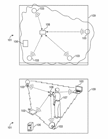 Reverse-beacon indoor positioning system using existing detection fields
