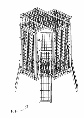 At-least-twenty-four-different-configuration pet kennel, having angled clamp system, parallel clamp system, angled stilt system, parallel stilt ...