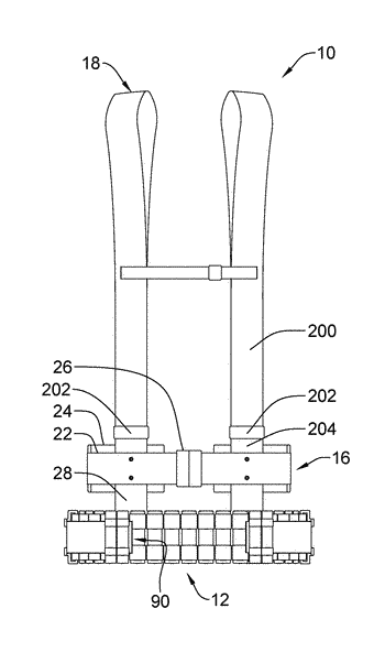 Slip belt carrying apparatus