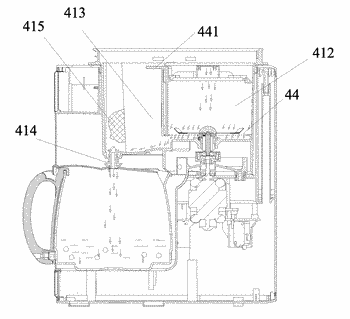 Coffee machine and working method therefor