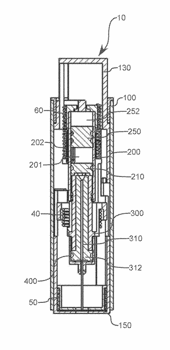 Portable drug mixing and delivery device and associated methods