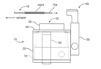 Dryers for removing solvent from a drug-eluting coating applied to medical devices