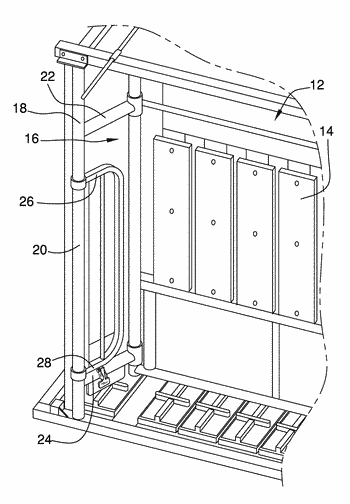 Cattle squeeze chute door opening assembly