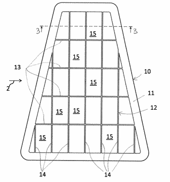 Filtering panel and method of making the same