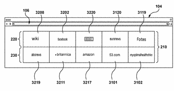 Method of selecting a website for displaying in a web browser quick-access field