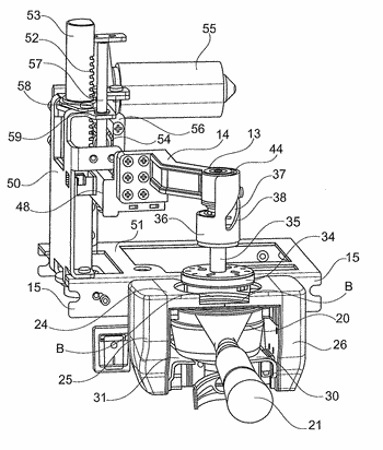 Apparatus for pressing a dose of coffee within the portafilter