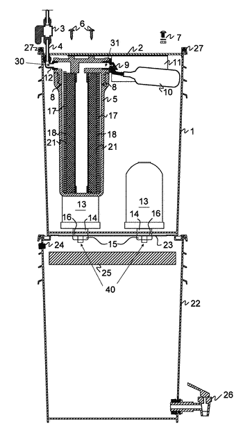 Gravity-fed water purification system