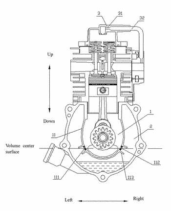 Quantitative one-way oil gas lubricant system and method for 4-stroke engine