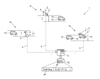 Method for generating a digital record and roadside unit of a road toll system implementing ...