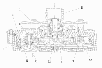 Water output device capable of regulating water output spray