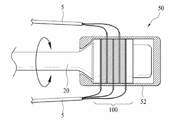 Vibrator assembly comprising rotation connection unit