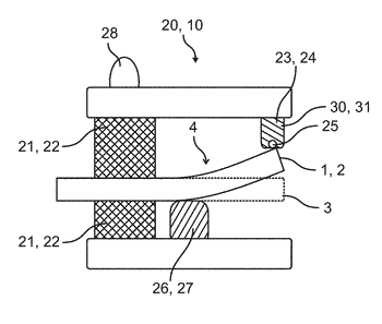 Method for straightening a distortion of a component by way of a straightening device, and ...
