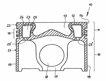 Method for coating the surface of a closed cooling channel of a piston for an ...