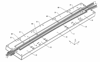 Operating and locking mechanism for turnouts of central rail-guided vehicles
