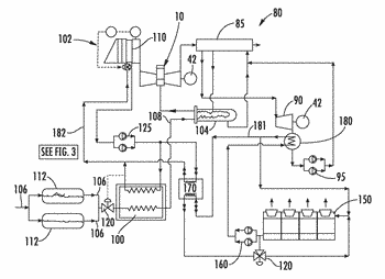 System and method for improving output and heat rate for a liquid natural gas combined ...