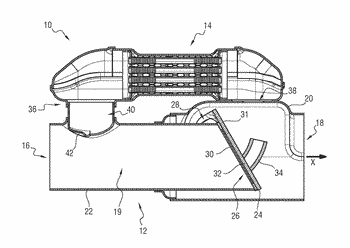 Exhaust heat recovery device having an improved tightness