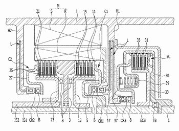 Double clutch apparatus for hybrid electric vehicle