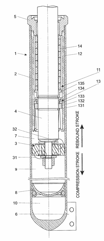 Hydraulic suspension damper with hydro-mechanical stroke stop