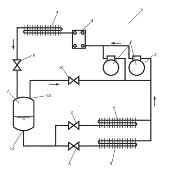 A method for operating a vapour compression system with heat recovery