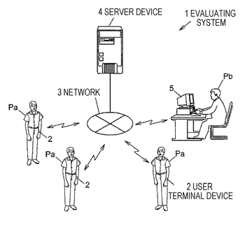 Evaluating apparatus and terminal device