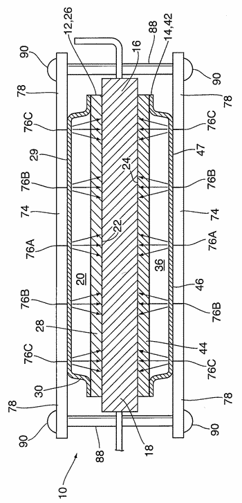 Heat exchanger for dual-sided cooling of electronic modules