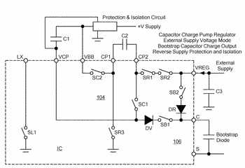 Voltage regulator having boost and charge pump functionality