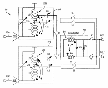 Low-noise amplifier with integrated wideband transformer-based power splitter