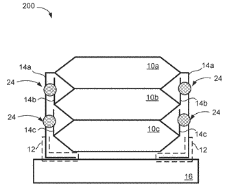 Multi-stacked electronic device with defect-free solder connection