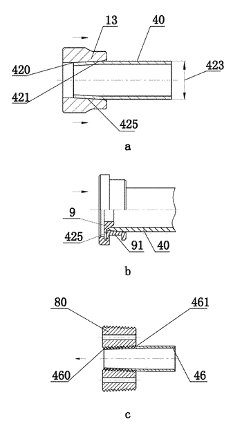 Method, module, and apparatus for roll-processing external pipe thread, and external pipe thread production line